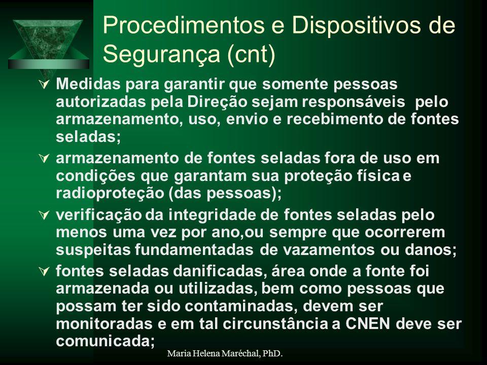 Procedimentos e Dispositivos de Segurança (cnt)