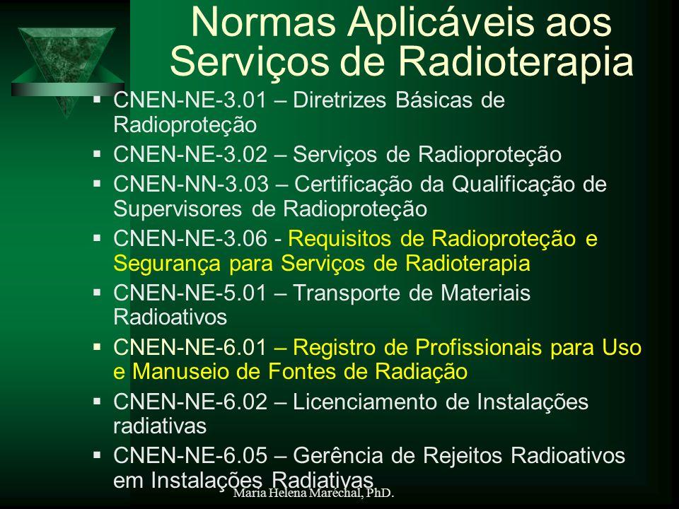 Normas Aplicáveis aos Serviços de Radioterapia