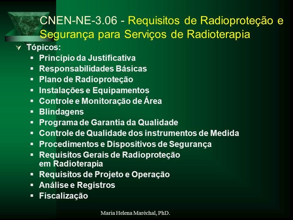 CNEN-NE-3.06 - Requisitos de Radioproteção e Segurança para Serviços de Radioterapia