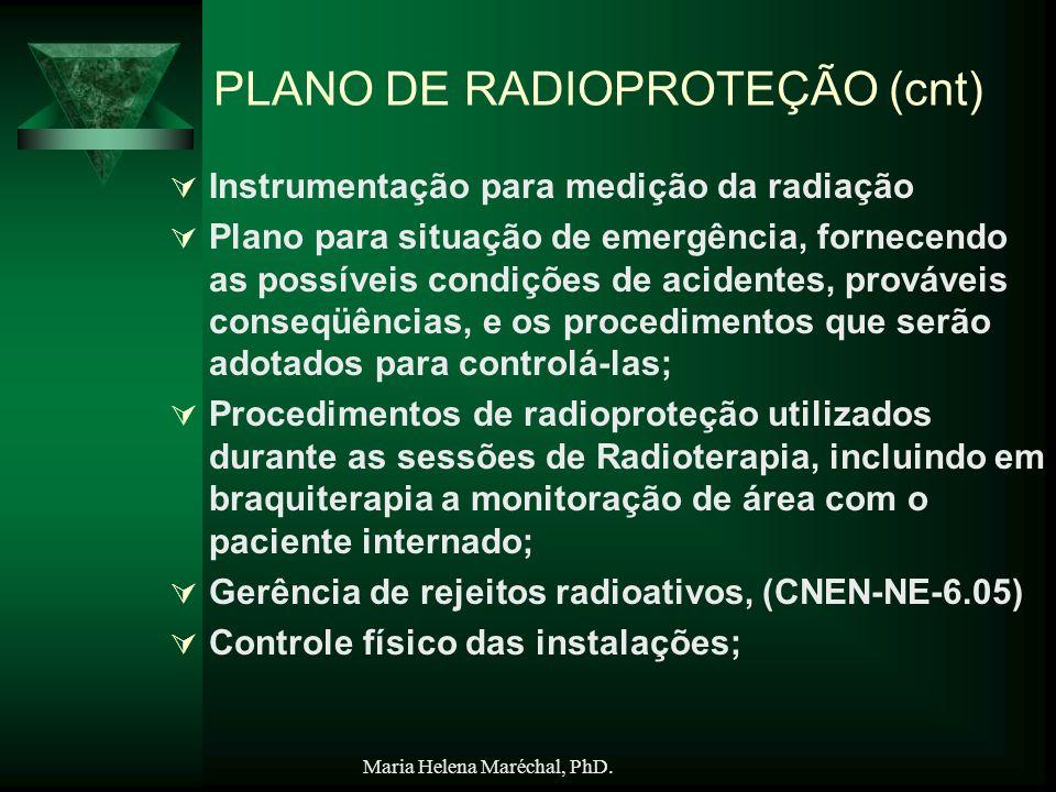 PLANO DE RADIOPROTEÇÃO (cnt)
