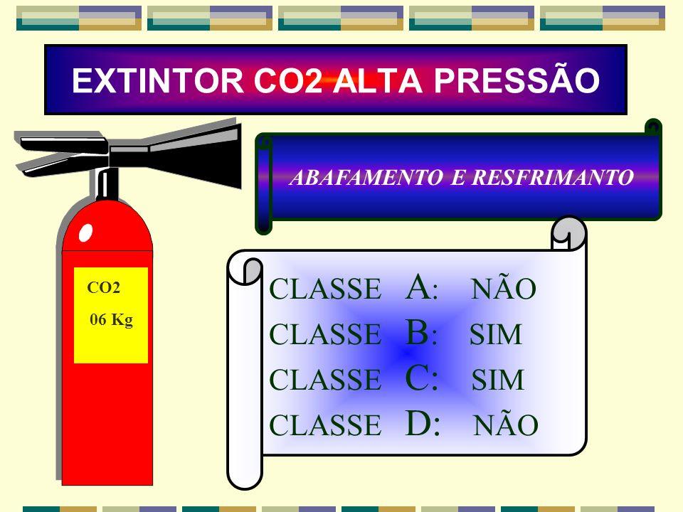 EXTINTOR CO2 ALTA PRESSÃO