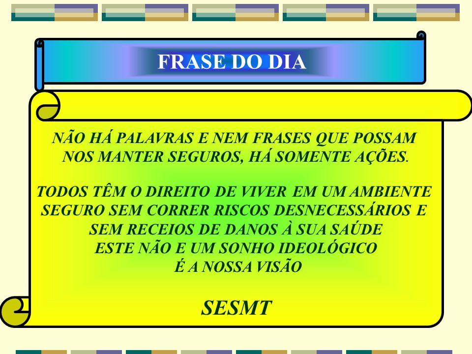 FRASE DO DIA SESMT NÃO HÁ PALAVRAS E NEM FRASES QUE POSSAM
