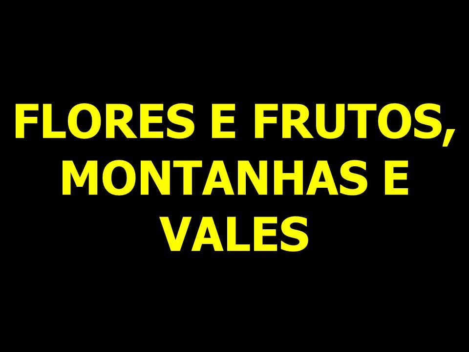 FLORES E FRUTOS, MONTANHAS E VALES