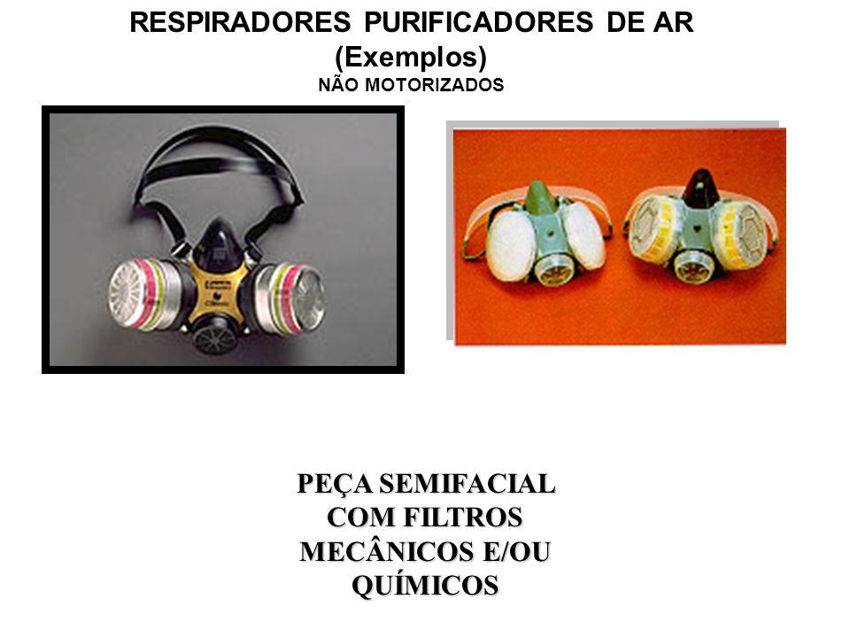 RESPIRADORES PURIFICADORES DE AR (Exemplos) NÃO MOTORIZADOS