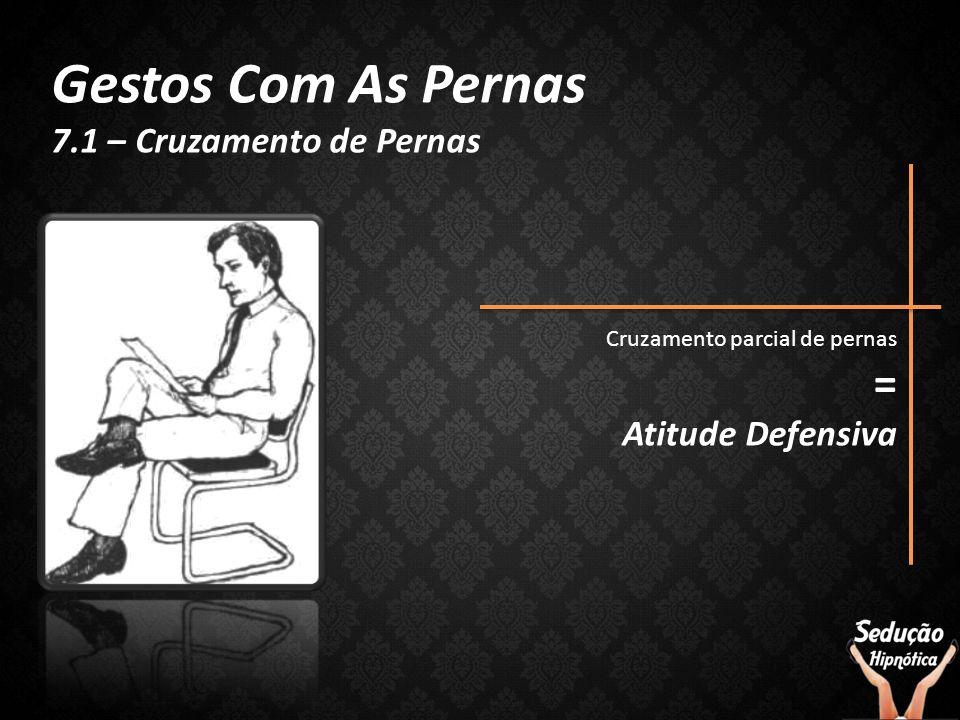 Gestos Com As Pernas = 7.1 – Cruzamento de Pernas Atitude Defensiva