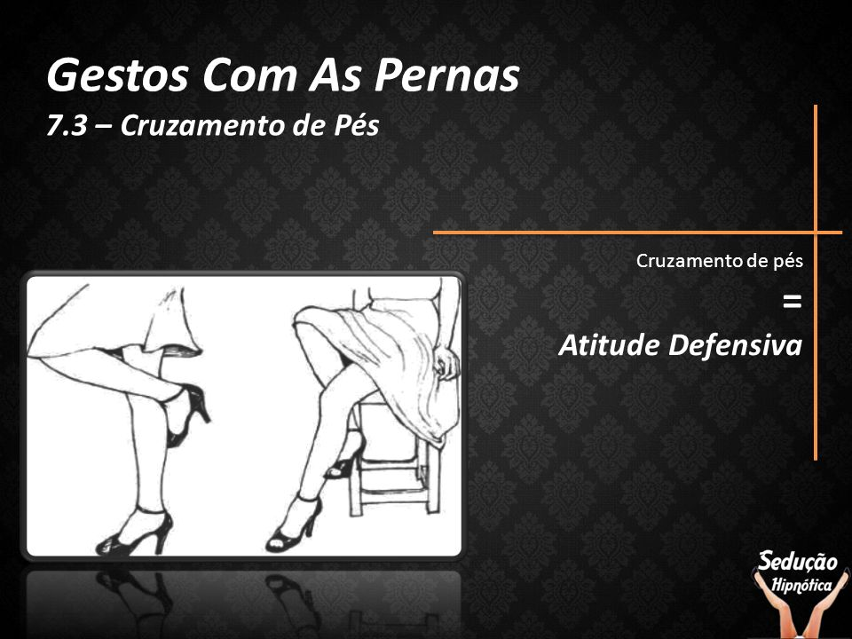 Gestos Com As Pernas = 7.3 – Cruzamento de Pés Atitude Defensiva