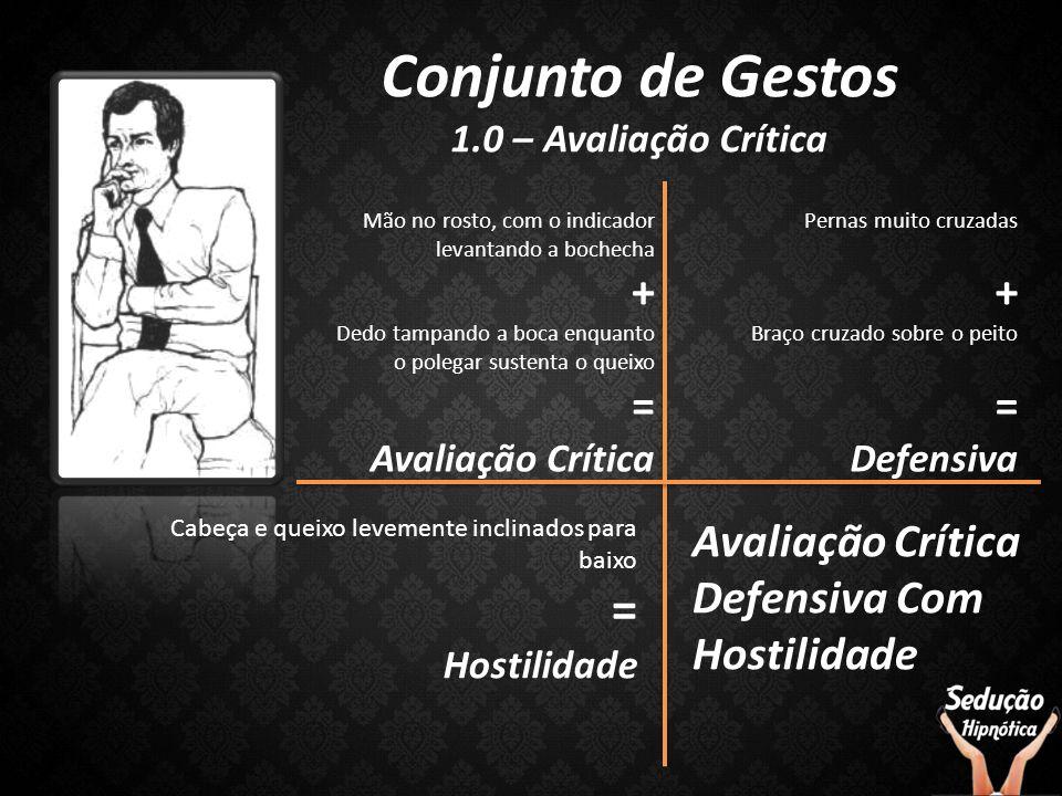 Conjunto de Gestos = Avaliação Crítica Defensiva Com Hostilidade