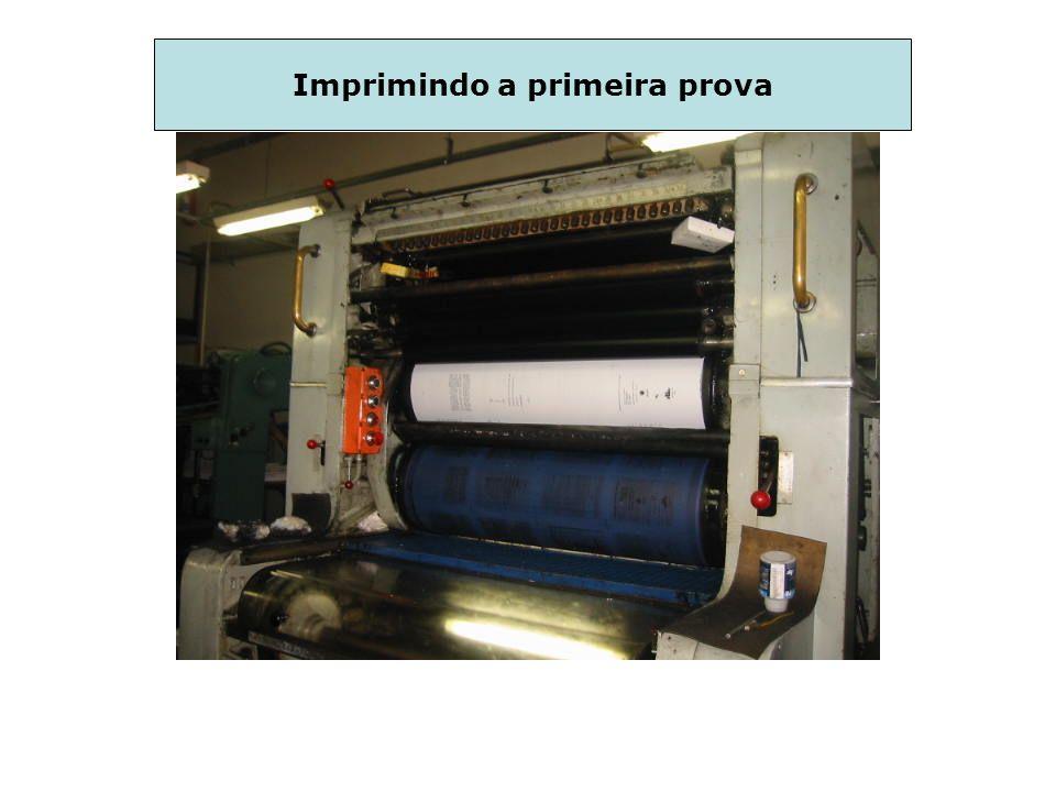 Imprimindo a primeira prova