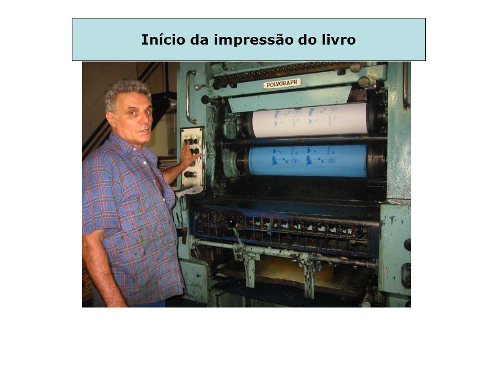 Início da impressão do livro