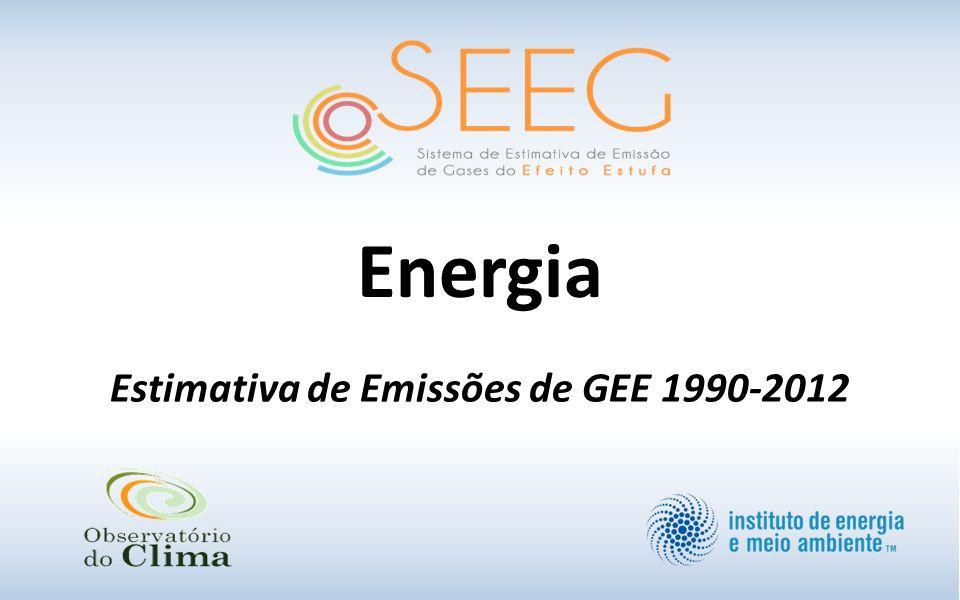 Estimativa de Emissões de GEE 1990-2012