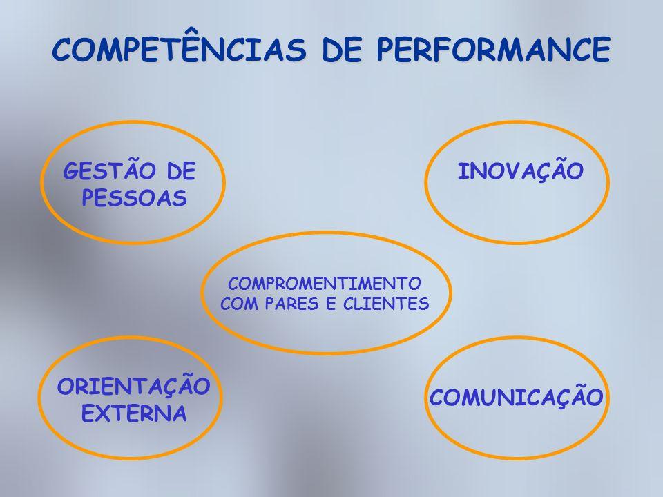 COMPETÊNCIAS DE PERFORMANCE
