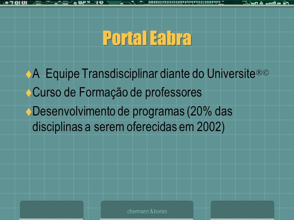 Portal Eabra A Equipe Transdisciplinar diante do Universite