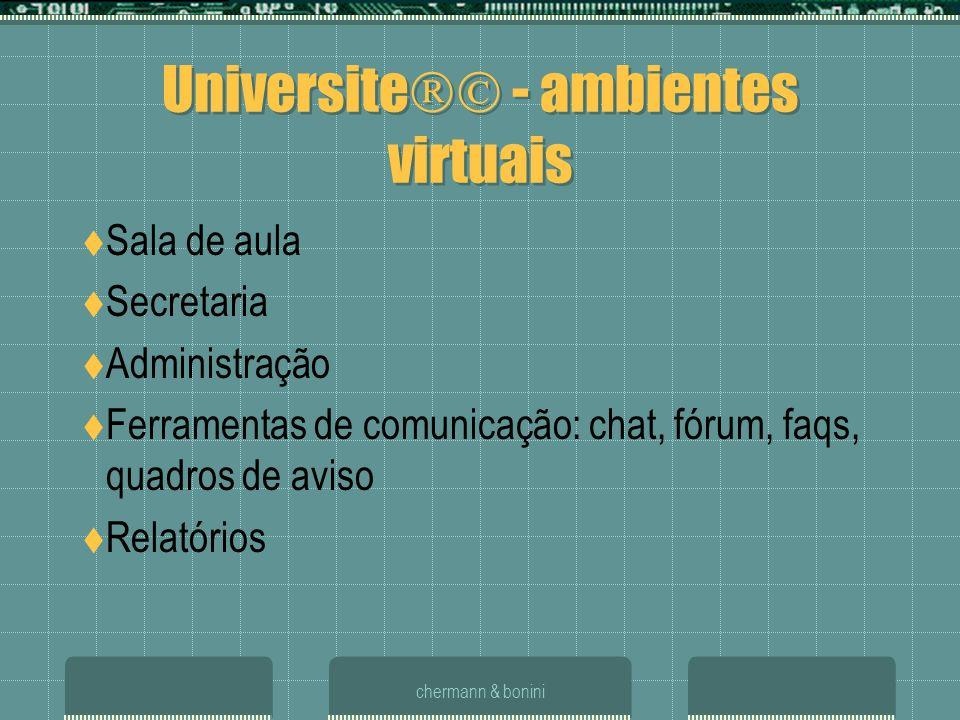 Universite - ambientes virtuais