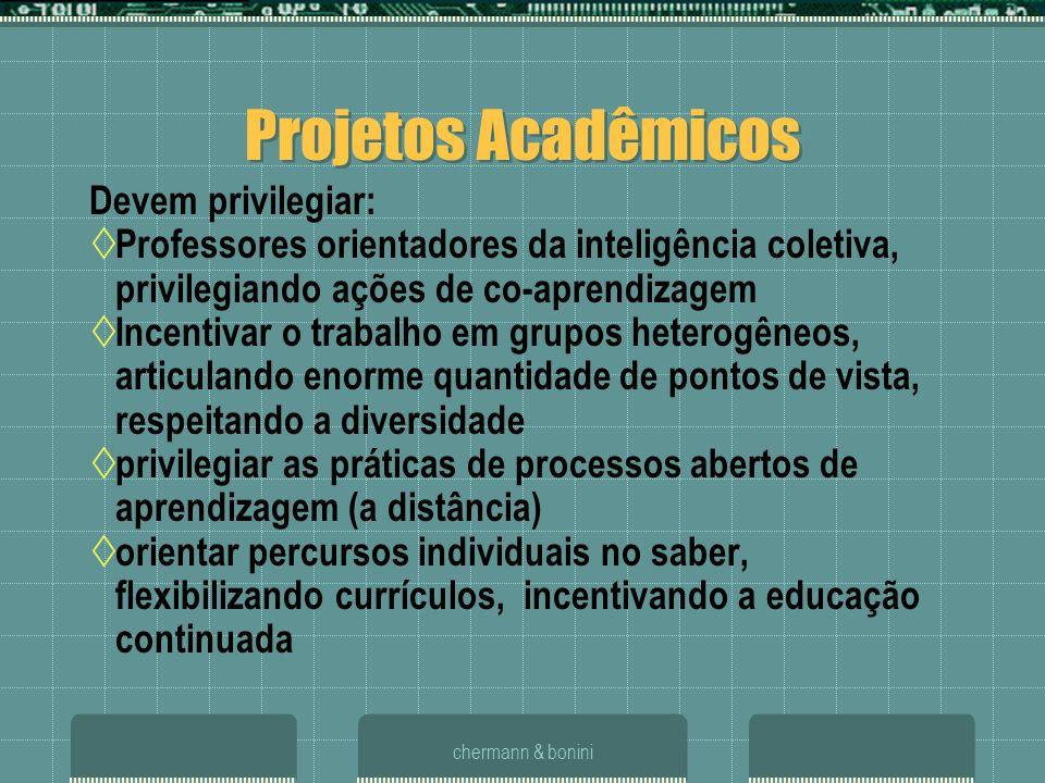 Projetos Acadêmicos Devem privilegiar:
