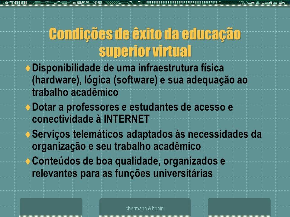 Condições de êxito da educação superior virtual