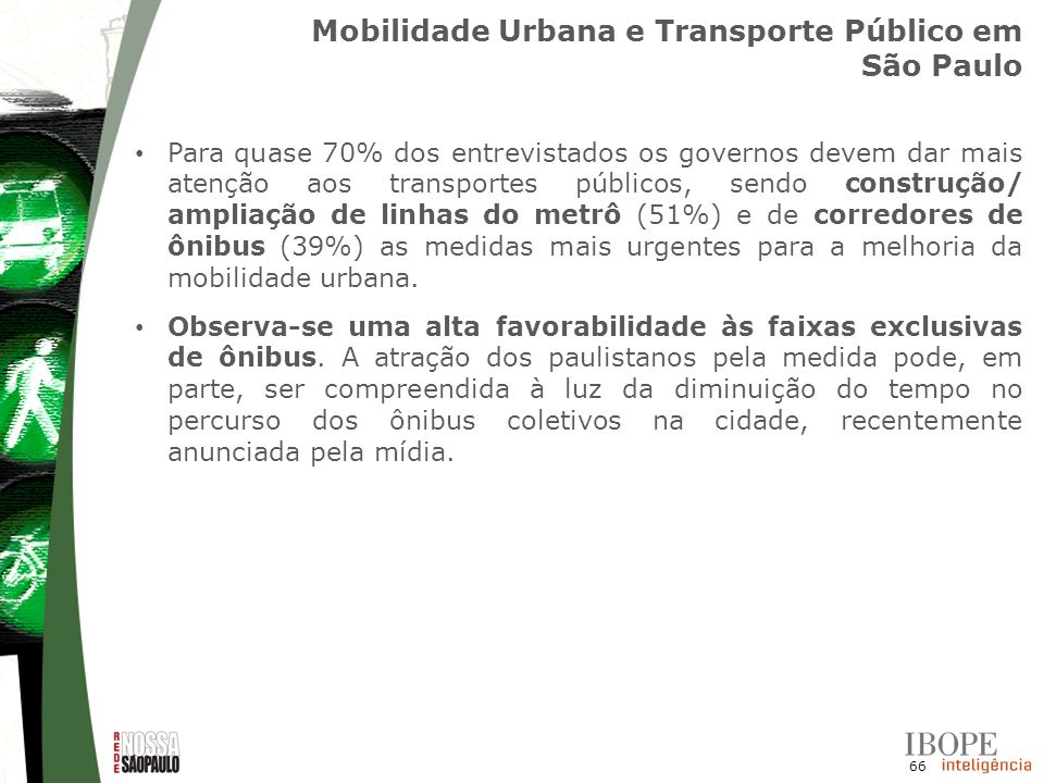 Mobilidade Urbana e Transporte Público em São Paulo