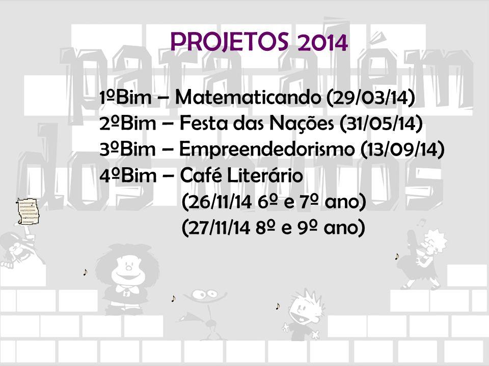 PROJETOS 2014 1ºBim – Matematicando (29/03/14)