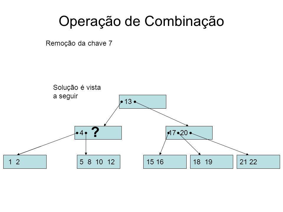 Operação de Combinação