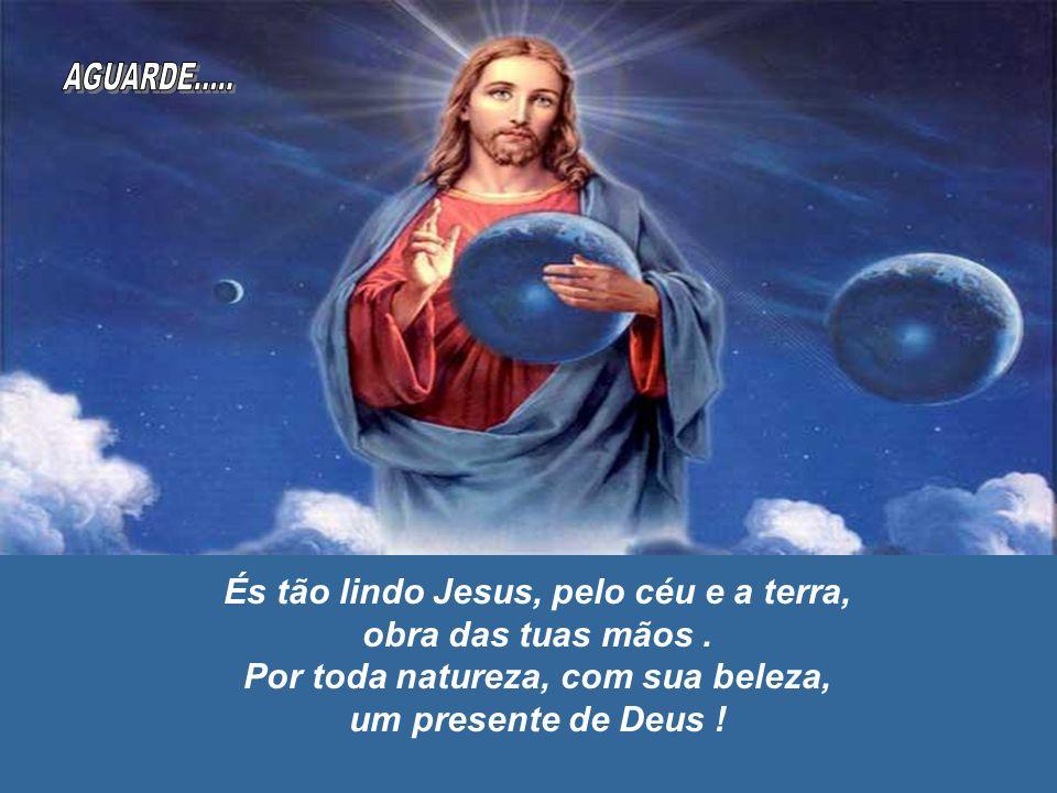AGUARDE..... És tão lindo Jesus, pelo céu e a terra,