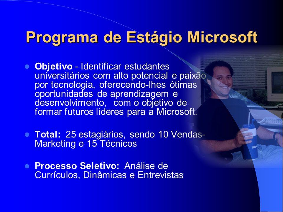Programa de Estágio Microsoft