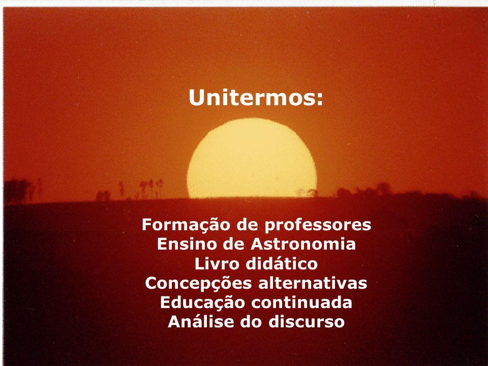 Formação de professores Concepções alternativas