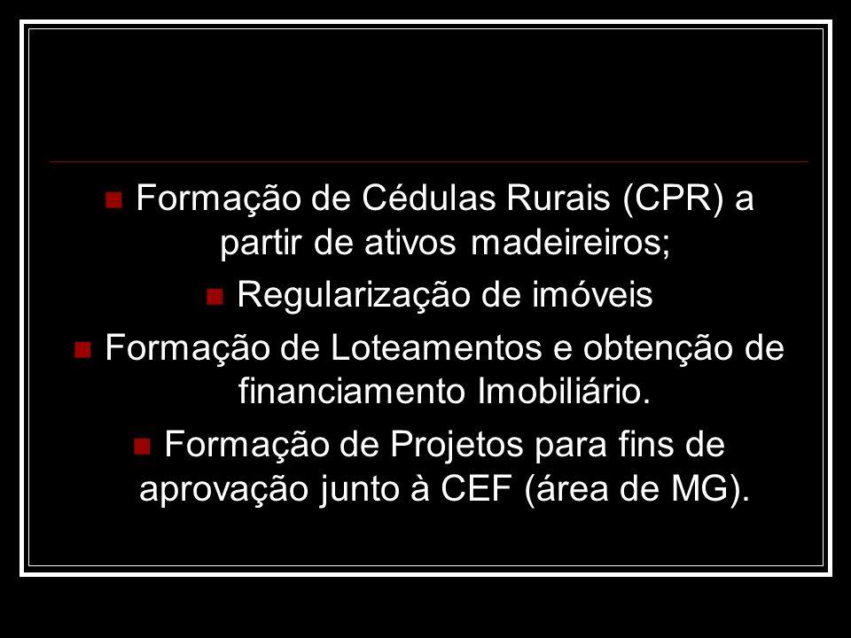 Formação de Cédulas Rurais (CPR) a partir de ativos madeireiros;