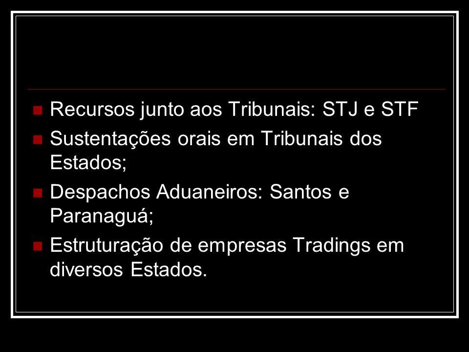 Recursos junto aos Tribunais: STJ e STF