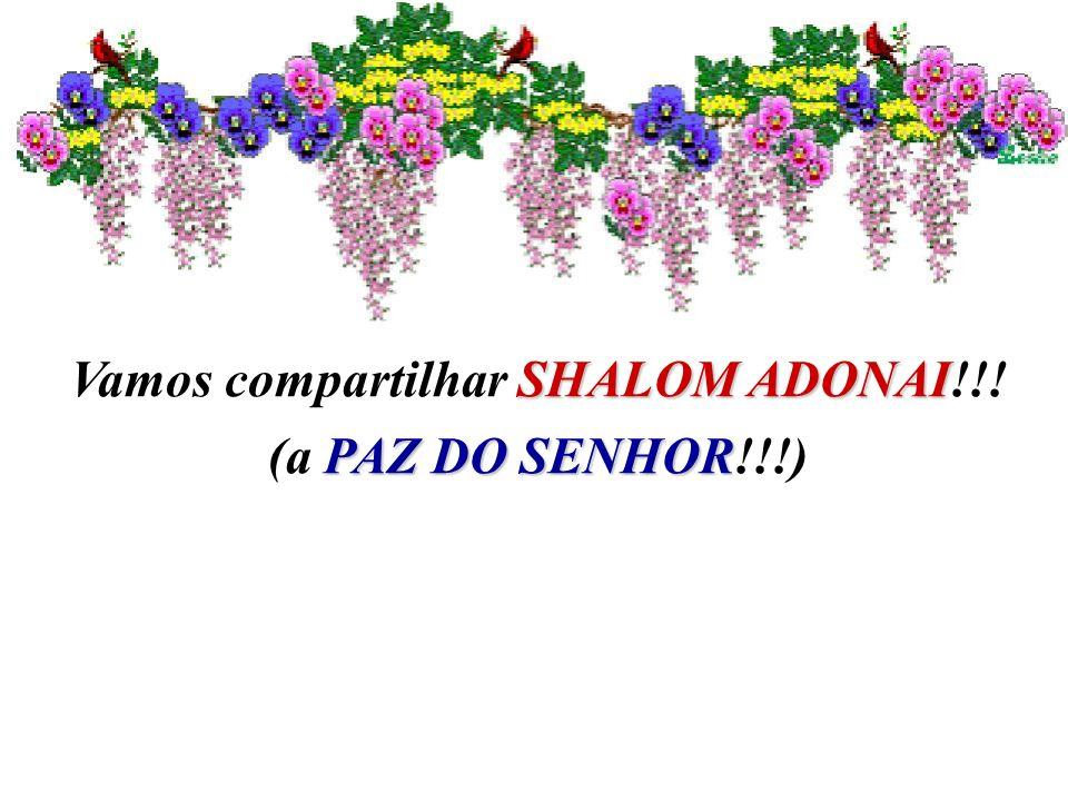 Vamos compartilhar SHALOM ADONAI!!!