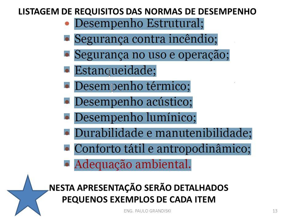 NESTA APRESENTAÇÃO SERÃO DETALHADOS PEQUENOS EXEMPLOS DE CADA ITEM