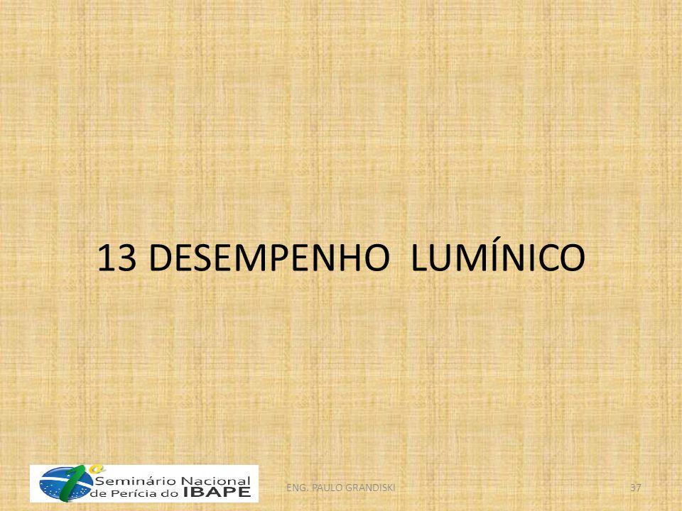 13 DESEMPENHO LUMÍNICO ENG. PAULO GRANDISKI
