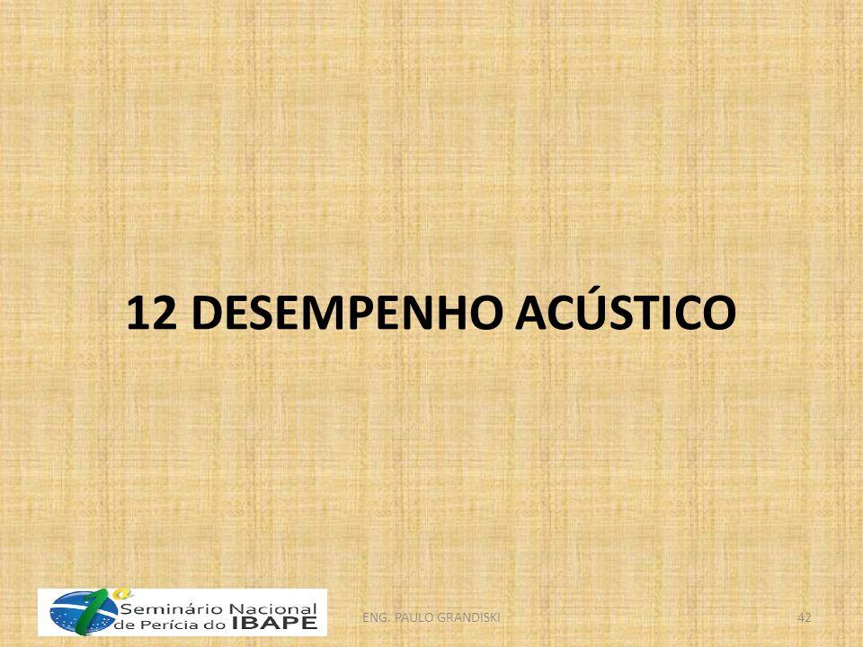 12 DESEMPENHO ACÚSTICO ENG. PAULO GRANDISKI