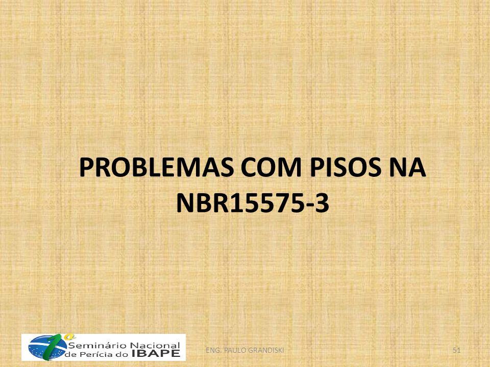 PROBLEMAS COM PISOS NA NBR15575-3