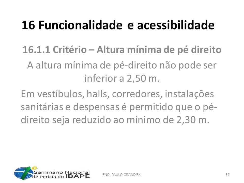 16 Funcionalidade e acessibilidade