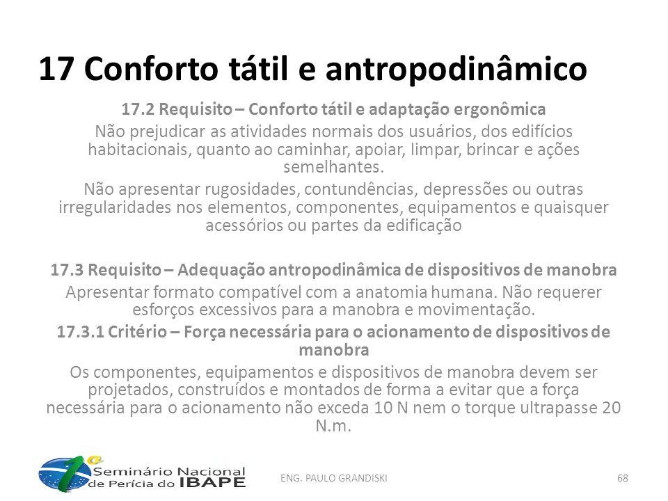 17 Conforto tátil e antropodinâmico