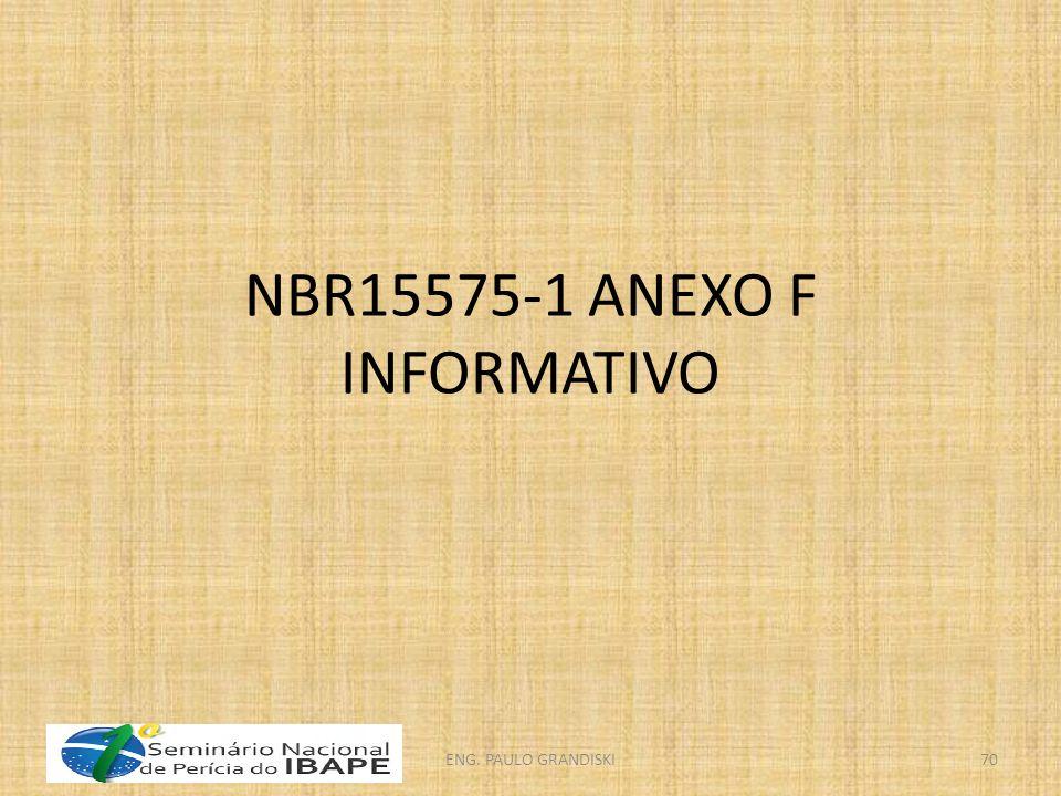 NBR15575-1 ANEXO F INFORMATIVO