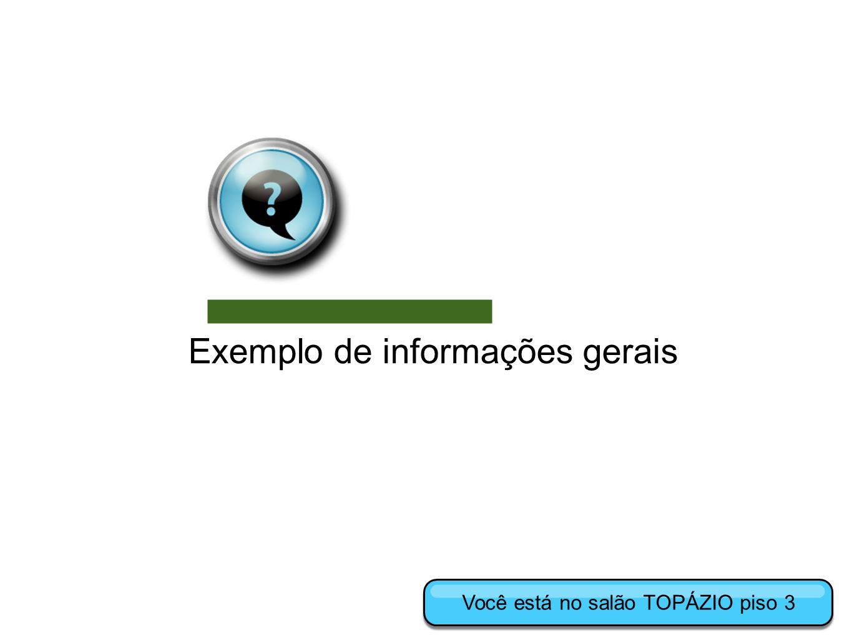 Exemplo de informações gerais