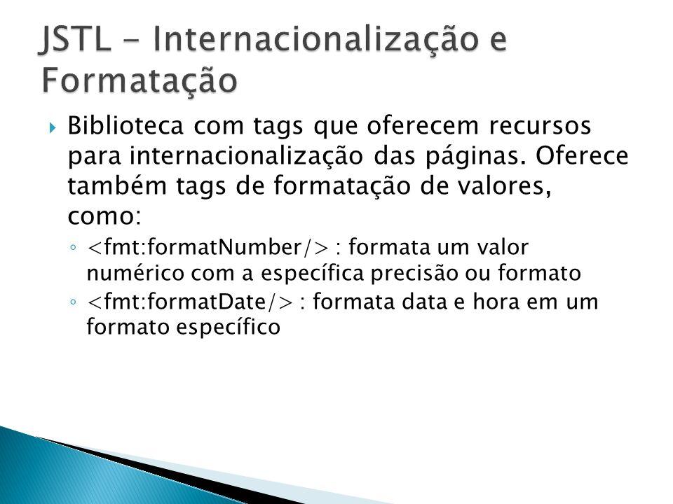 JSTL - Internacionalização e Formatação