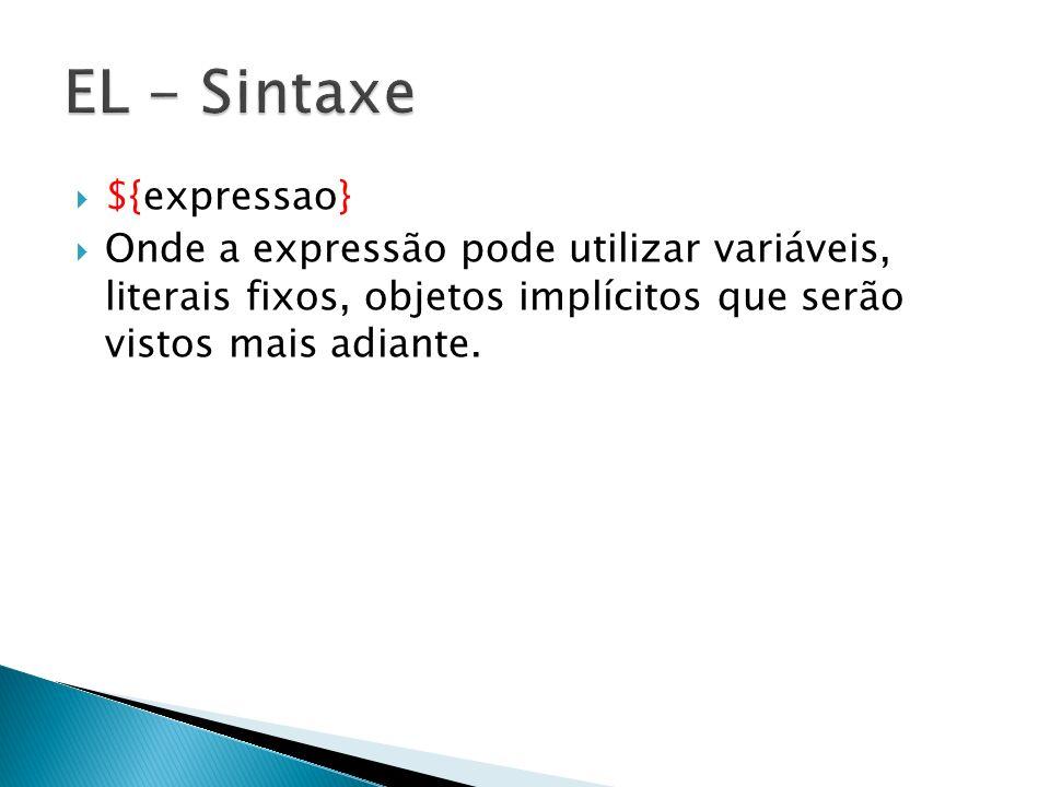 EL - Sintaxe ${expressao}