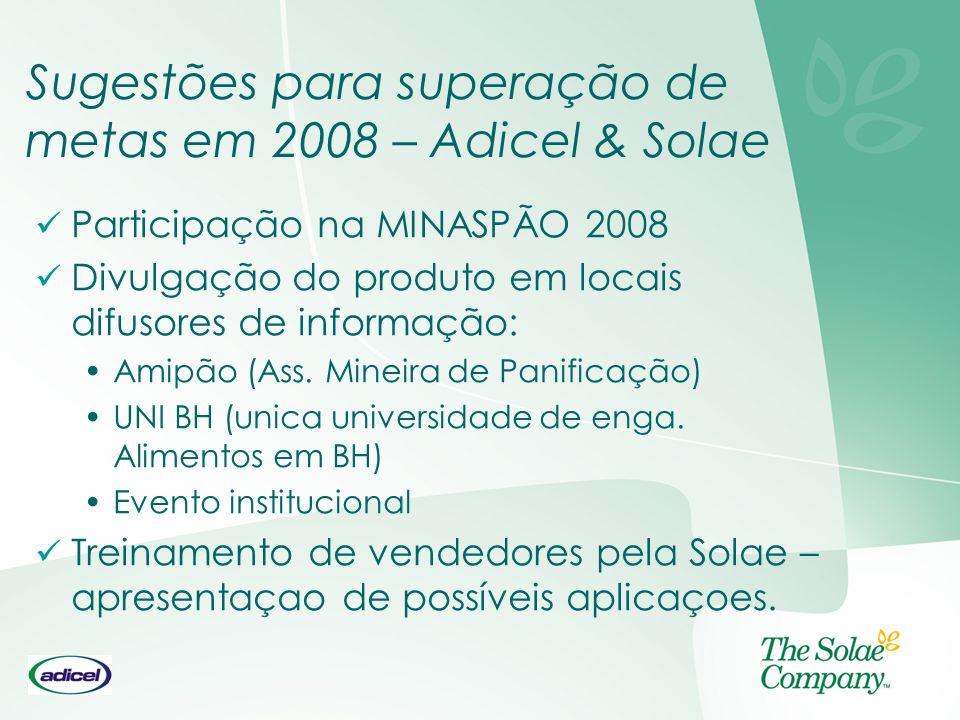 Sugestões para superação de metas em 2008 – Adicel & Solae