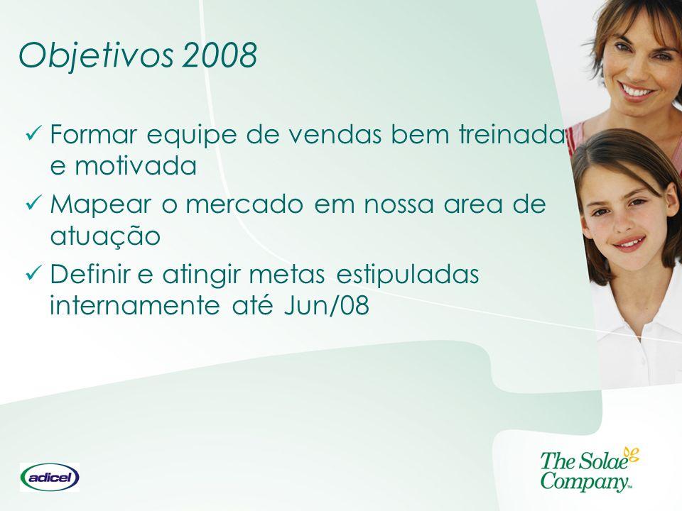 Objetivos 2008 Formar equipe de vendas bem treinada e motivada