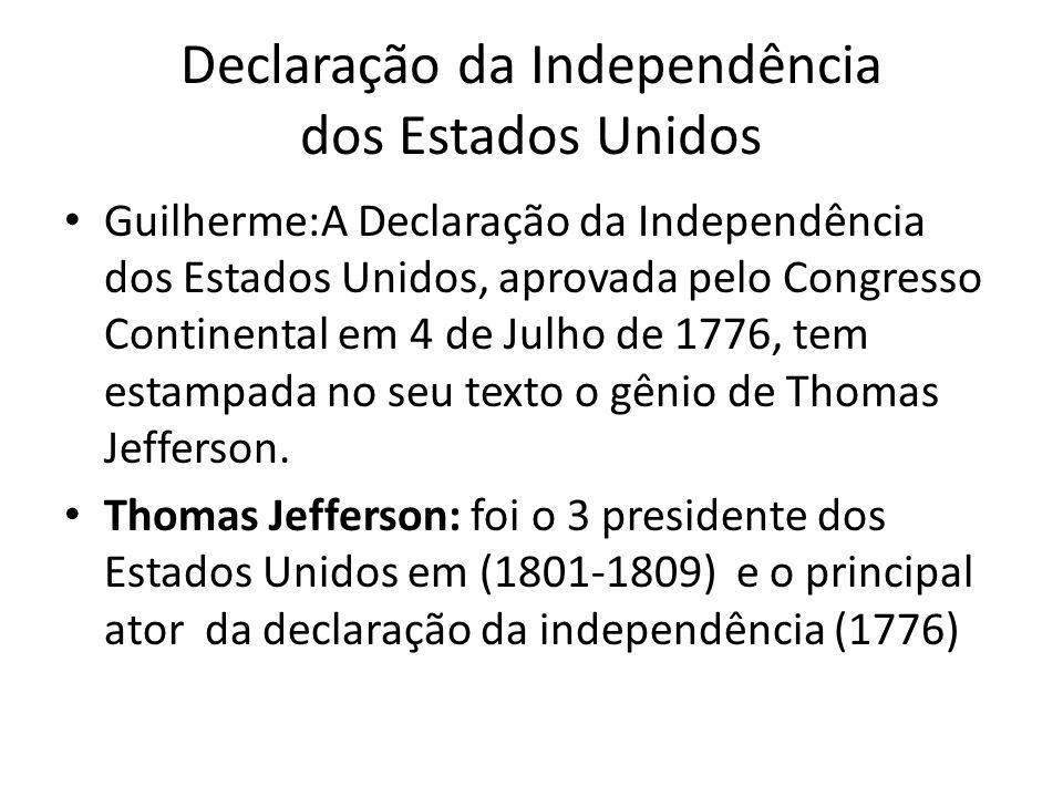Declaração da Independência dos Estados Unidos