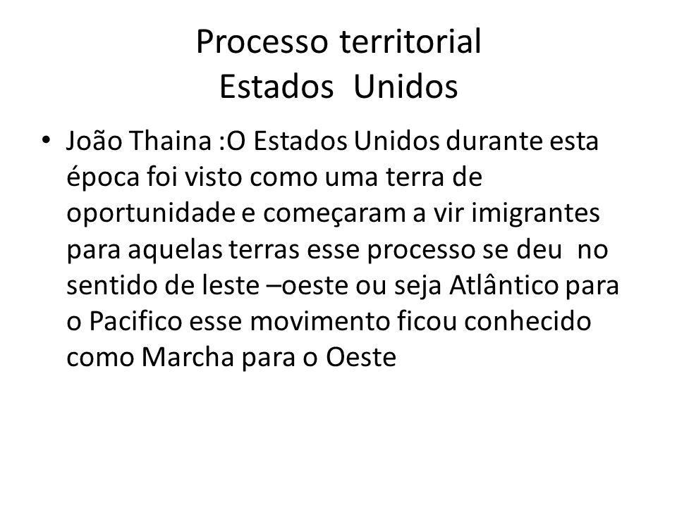 Processo territorial Estados Unidos