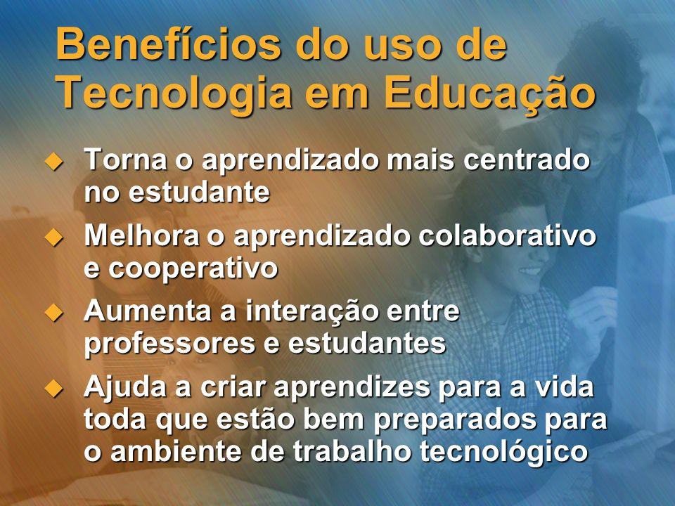 Benefícios do uso de Tecnologia em Educação