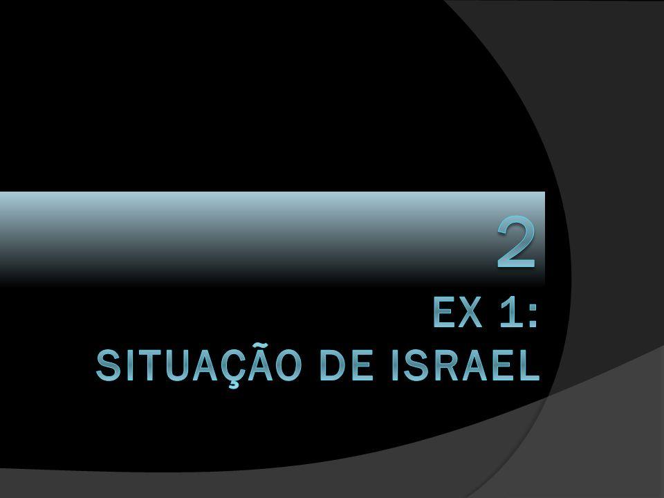 2 EX 1: SITUAÇÃO DE ISRAEL