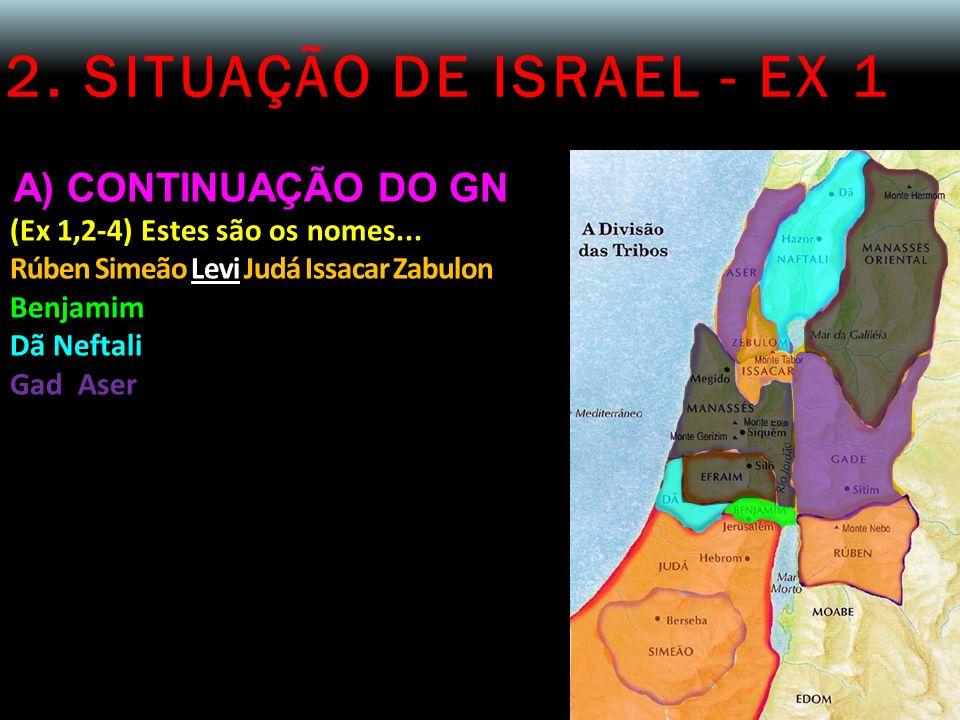 2. SITUAÇÃO DE ISRAEL - EX 1 A) CONTINUAÇÃO DO GN