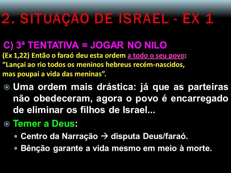 2. SITUAÇÃO DE ISRAEL - EX 1 C) 3ª TENTATIVA = JOGAR NO NILO