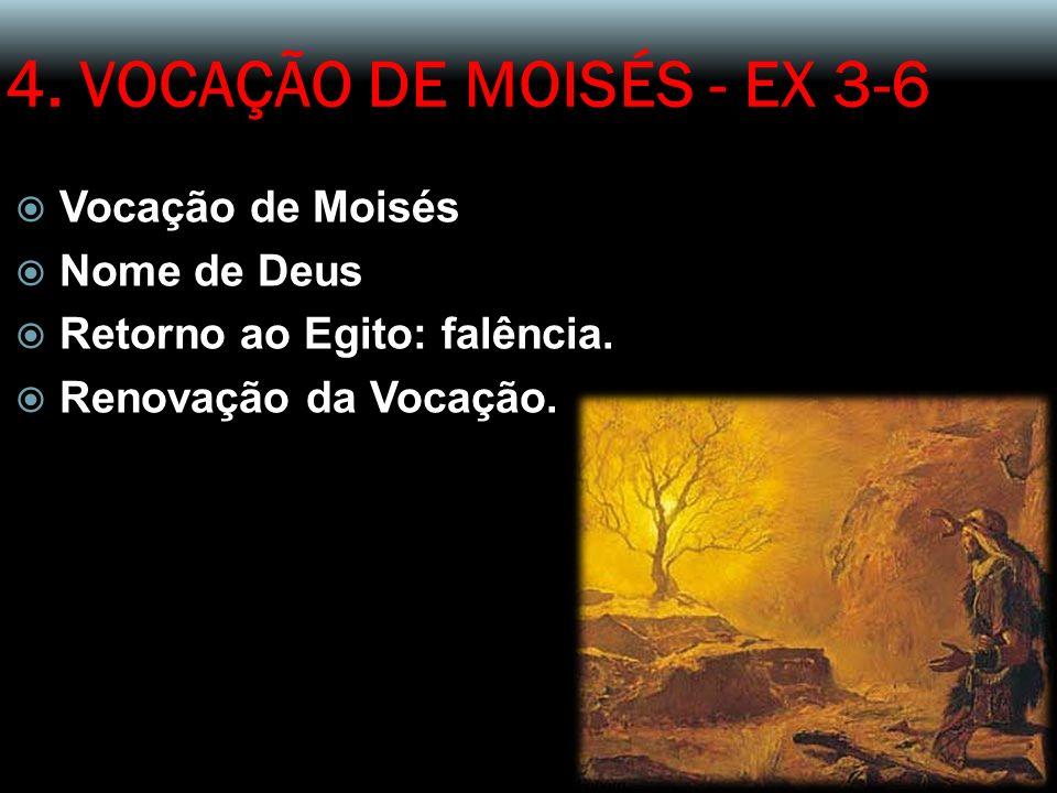 4. VOCAÇÃO DE MOISÉS - EX 3-6 Vocação de Moisés Nome de Deus