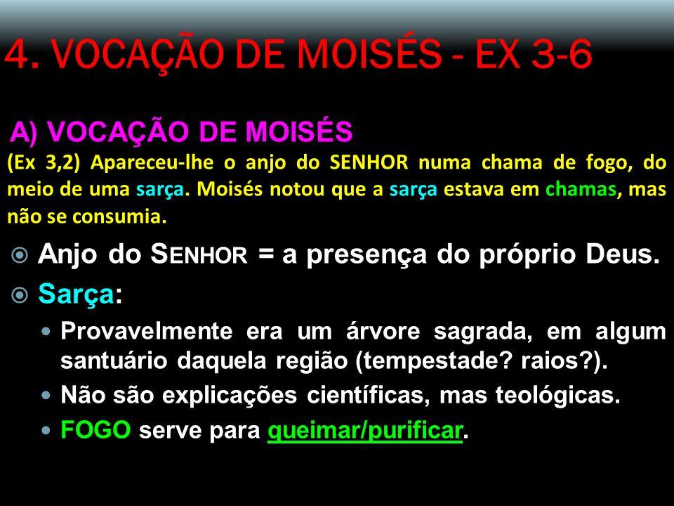 4. VOCAÇÃO DE MOISÉS - EX 3-6 A) VOCAÇÃO DE MOISÉS