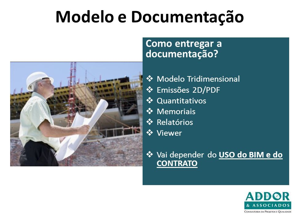 Modelo e Documentação Como entregar a documentação