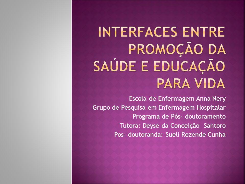 Interfaces entre promoção da Saúde e educação para Vida